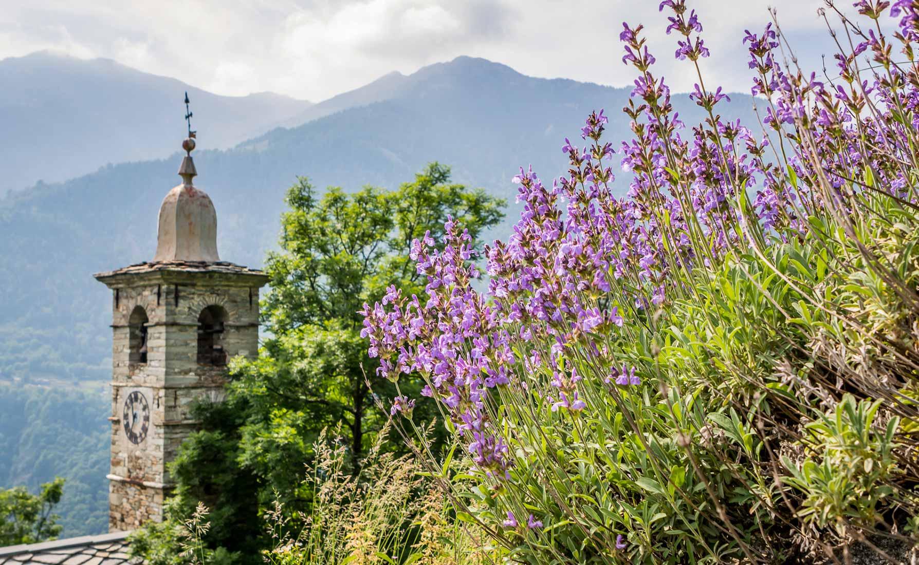 La Cappella di Pillaz segna l'inizio dell'Itinerario dello Spirito verso Oropa