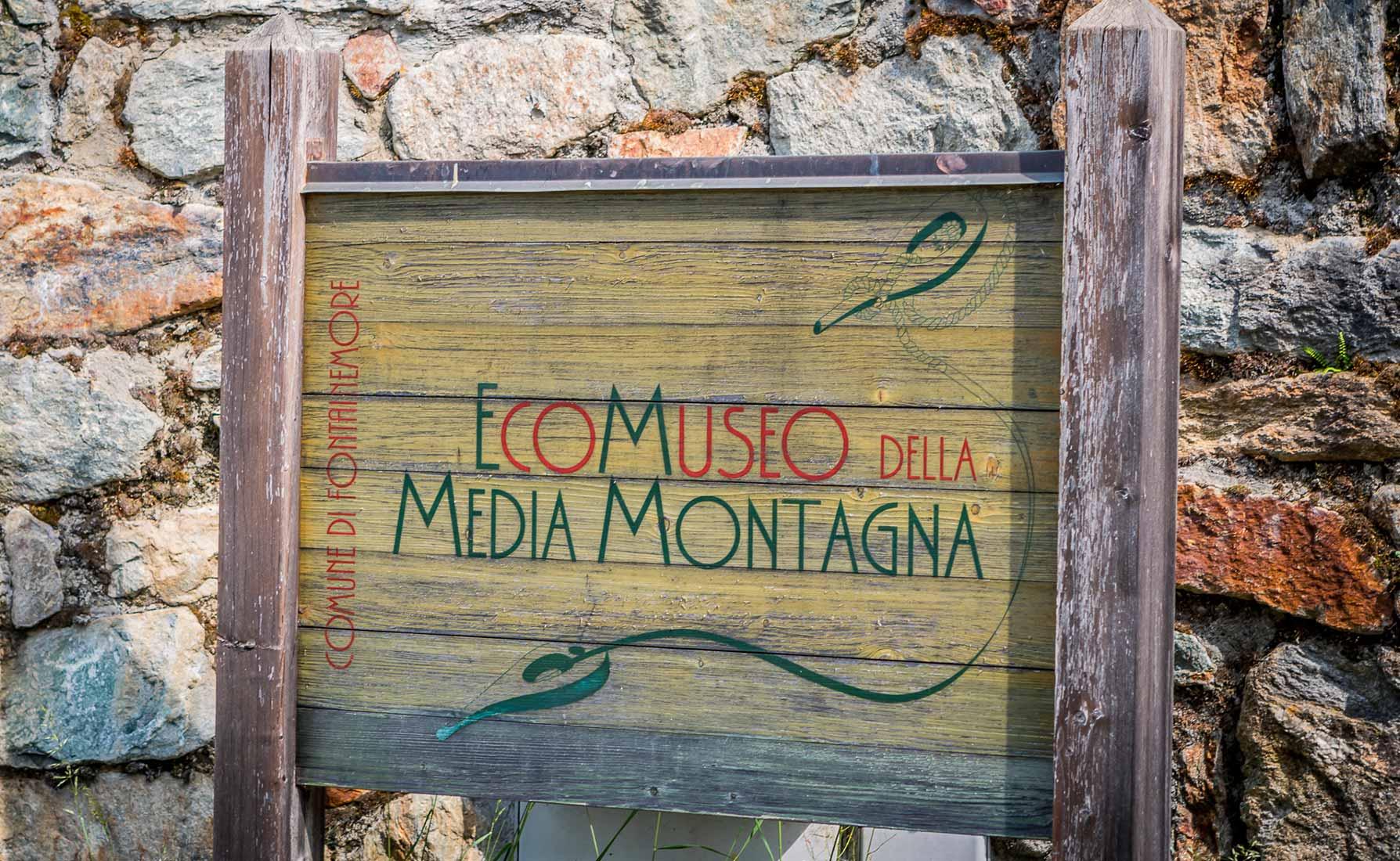 L'Ecomuseo della Media Montagna in Località Pra Dou Sas.