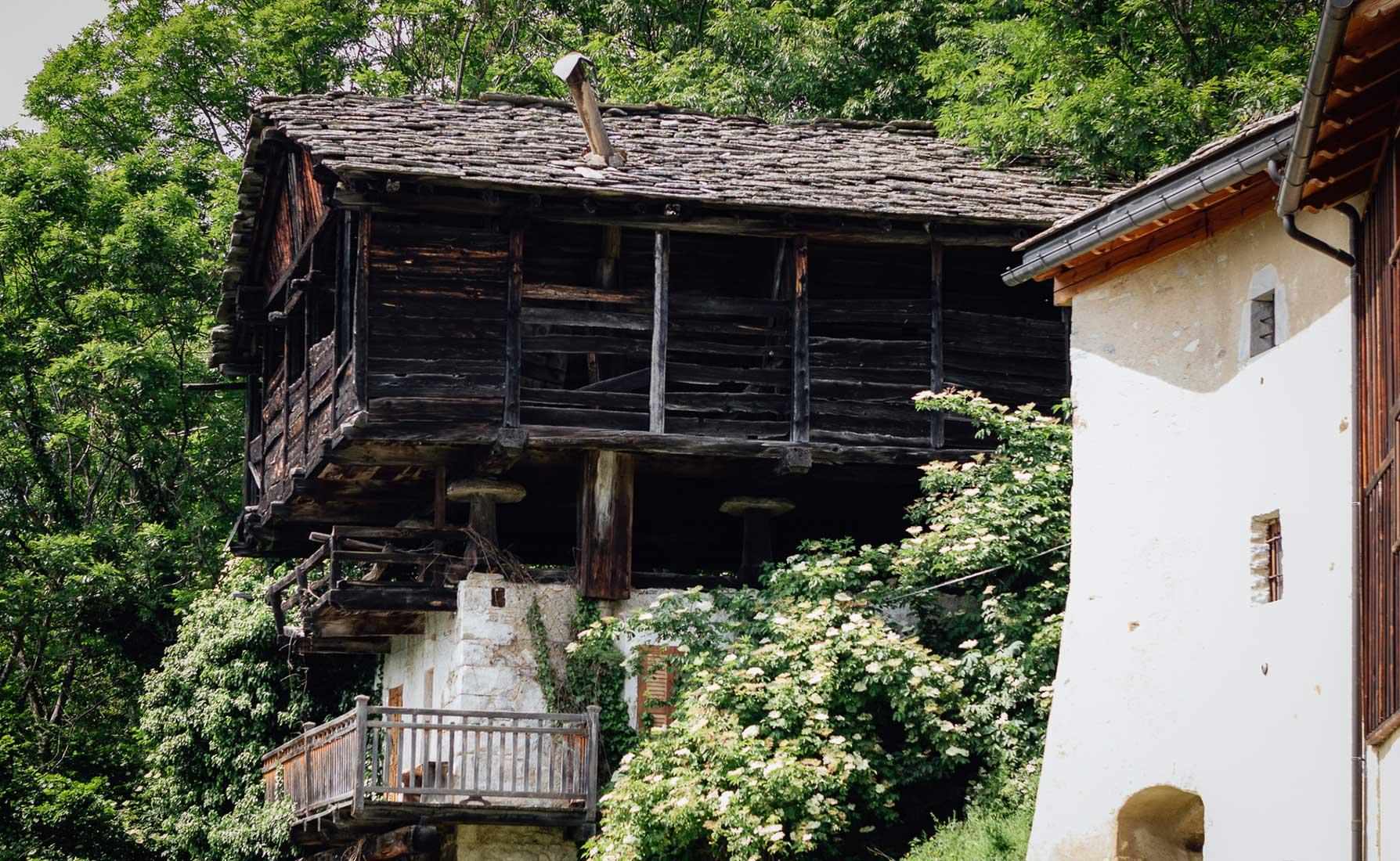 Un esempio di architettura Walser nel villaggio di Farettaz