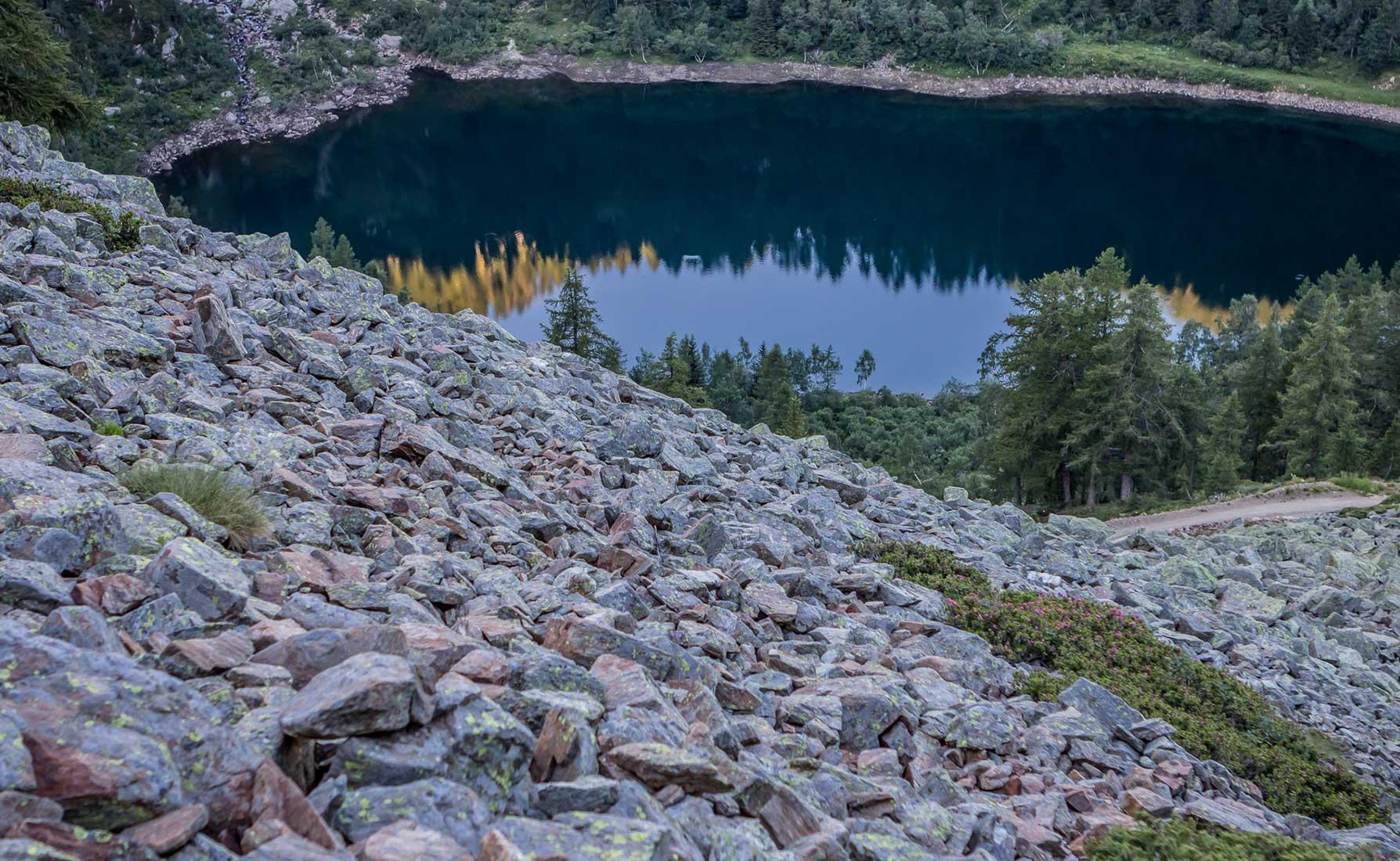 Il Lago Vargno a 1672 metri di altitudine